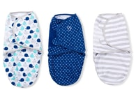 Summer Infant SwaddleMe zavinovačka S - modrá sada 3 ks
