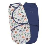 Summer Infant SwaddleMe S modrá/lesní motiv 2 ks